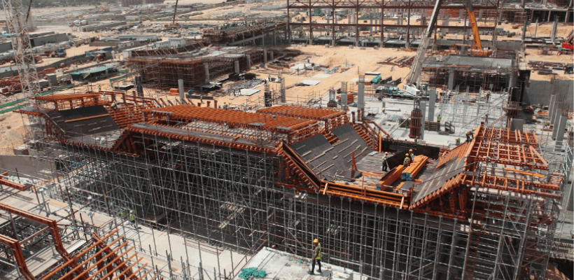 construction of mall of Egypt ski park